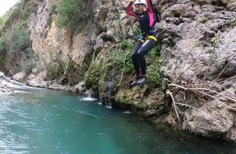 Canyoning in the water -  Kourtaliotiko Gorge